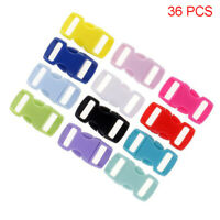 36Pcs Plastic Quick Release Buckles Webbing Strap Side Clasp Curved Adjustable