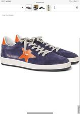 Golden Goose Ball Star Distressed Suede And Leather Sneakers UK8 Brand New
