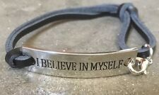 Silver Plate Motivational Inspirational Quote Bracelet Bangle