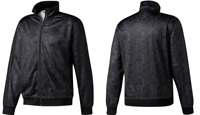 ADIDAS Men Essential ClimaLite® Printed Track Jacket in Black NEW NWT