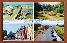 Vintage Lancashire Postcard - Various Views of Southport - 1964 (HP)