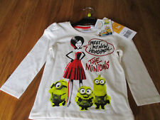 Childrens-Minions-T-Shirt-Long Sleeved - new with tags - 100% cotton