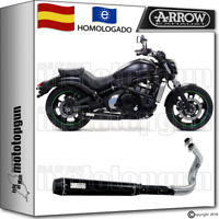 ARROW SISTEMA ESCAPE REBEL ACERO DARK CC HOM KAWASAKI VULCAN S 650 2014 14
