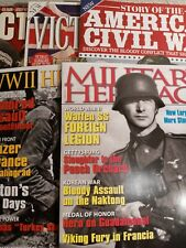 Lot Of 5 - New History Magazines: WWII - Military - Civil War - Spring 2020