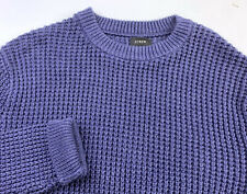 J.Crew Men's Knit Sweater Jumper Blue Cotton Size Medium