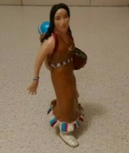NATIVE AMERICAN  MOTHER & BABY figure toys play plastic figurine 8cm