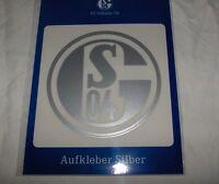 FC SCHALKE 04 - Auto-Aufkleber  8cm, Farbe: silber -- Neu,OVP,Lizenzartikel