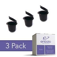 Enbizio Coffee Parts - Nespresso Reusable Refillable Capsule Pods (3 Pack)