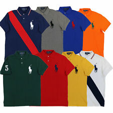 Polo Ralph Lauren Big Pony Custom Slim Fit Polo Shirt Mesh Knit Xs S M L Xl Xxl