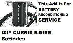 Izip Currie  EZ Ride  Trails Skyline Vialento Battery Reconditioning Service