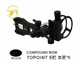 Topoint 5pin Light Archery Black Jungle Max Compound Bow Hunting Sight Hunter
