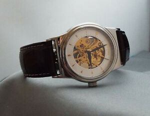 Texas Commemerative, Skeleton watch 17 jewel manual wind no battery required