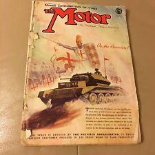 Vintage Retro April 1st 1942 WW2 The Motor Magazine Power Consumption Tyres