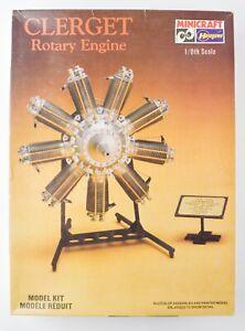 Vintage Hasegawa Clerget 9B Rotary Engine Model Kit  - DK34