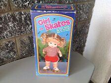 80S# Girl On Skates # Mattel Bootleg Baby Skates Wind Up Doll On Roller Skates