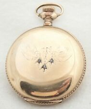 Filled Hunter Pocket Watch Antique 0S Waltham Gold