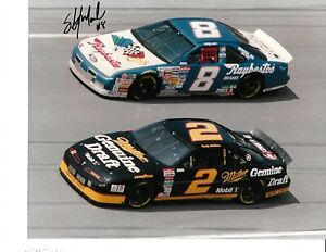 Autographed Sterling Marlin  NASCAR Auto Racing Photograph