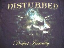 Disturbed Perfect Insanity Metal Band Music Black T Shirt L
