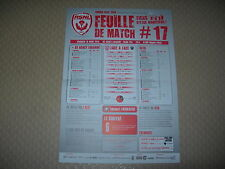 Feuille de match N°17 ASNL  Nancy - Dijon (2013-2014)