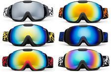 Ski SnowBoard Goggles Kids Toddler Dual Lens Anti Fog UV% Carry Pouch UV400