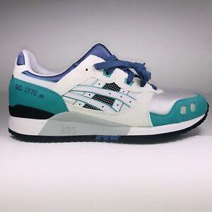 Asics Gel Lyte 3 OG White Blue Teal Multicolor Running Sneakers Mens Size 8