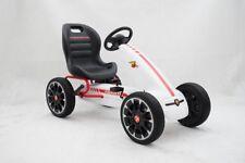 Go Kart A Pedali Per Bambini Modello Abarth Con Freno E Frizione Bianco