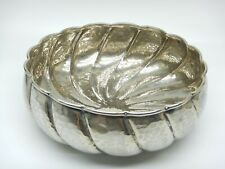More details for vintage battuto a mano silver plate bowl hammered effect italian