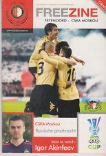 Programma / Programme Feyenoord Rotterdam v CSKA Moskou 06-11-2008 UEFA Cup