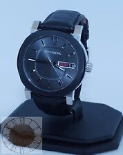 Wittnauer Men's Black Leather Strap Watch WN1000, New