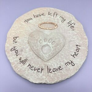 Pet Memorial Marker Pet Stepping Stone Remembrance Garden stone pawprint
