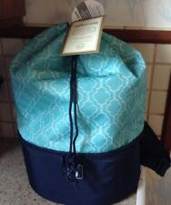 New With Tags Southern Living Turquoise Insulated Bucket Bag Picnics, Beach