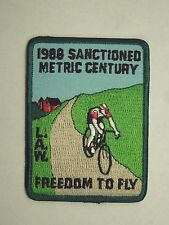 Vintage 1988 L.A.W. Sanctioned Metric Century Freedom To Fly Patch