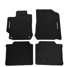 Fit For 12-17 Toyota Camry Black Nylon Floor Mats Carpets w/ White Camry