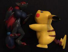 2 X JAKKs Pokemon Figure Pikachu Zoroark 2011 Nintendo Figures RARE