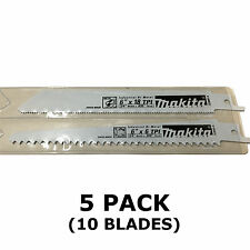 MAKITA RECIPROCATING SAW BLADES - 5 PACKS OF 2 - METAL & WOOD CUT 150mm BJR181