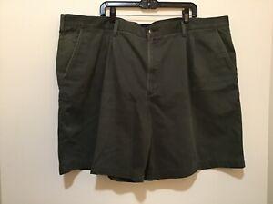 Basic Editions Men's 50W Green 100% Cotton Shorts NICE! (#CB36-1)
