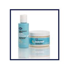 NEW bliss vanilla+bergamot shower gel (2 fl oz) & body buff (4 fl oz) travel set