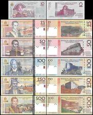 Haiti 10 to 500 Gourdes 6 Pieces (PCS) Set,1804-2004,P-272T277,UNC,2004 Calendar