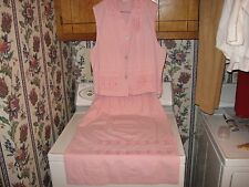 WOMENS DRESS SKIRT OUTFIT SIZE LARGE 12-14 10-12 14-16 XLARGE PINK SKIRT TOP EUC