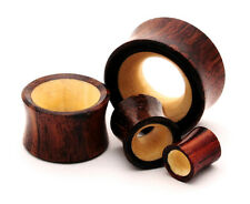 Sono Wood with Crocodile Wood Inlay Tunnels set gauges Pick Size organic