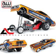 AUTOWORLD AW1161 1:18 1971 DODGE CHARGER TOM HOOVER WHITE BEAR NHRA FUNNY CAR