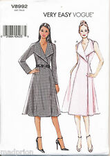 VOGUE SEWING PATTERN 8992 MISSES SZ 16-24 LINED WRAP DRESS IN PLUS SIZES