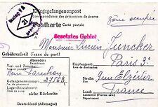 CORRESPONDANCE 39/45 Prisonnier de Guerre Camp Allemand Stalag 21 / juin 1943
