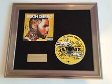 PERSONALLY SIGNED/AUTOGRAPHED JASON DERULO - TATTOOS CD FRAMED PRESENTATION.RARE