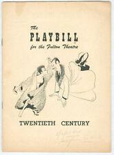 GLORIA SWANSON, JOSE FERRER original Playbill 1951 TWENTIETH CENTURY