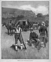 INDIAN TERRITORY, GENERAL SHERIDAN ON THE PLAINS, PRINT