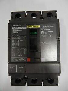 Square D: HLL36015 - Circuit Breaker, 3 Pole, 600VAC, 15A, 100K AIC