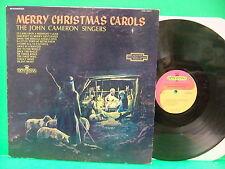 The John Cameron Singers Merry Christmas Carols 60's LP Nativity Cover Contessa