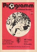 OL 80/81 HFC Chemie - FC Vorwärts Frankfurt/O.