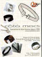 Publicité contemporaine bijou côté mecs 2009 issue de magazine